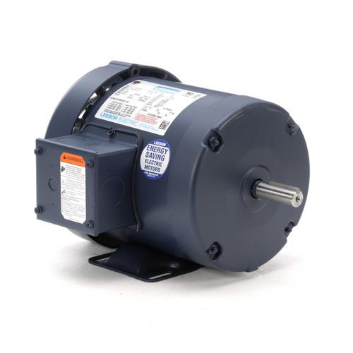 1 hp 3450 RPM 56 Frame 230/460V TEFC Leeson Electric Motor # 110145