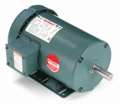 1 hp 1200 RPM 145T Frame 230/460V TEFC Leeson Electric Motor # 121520
