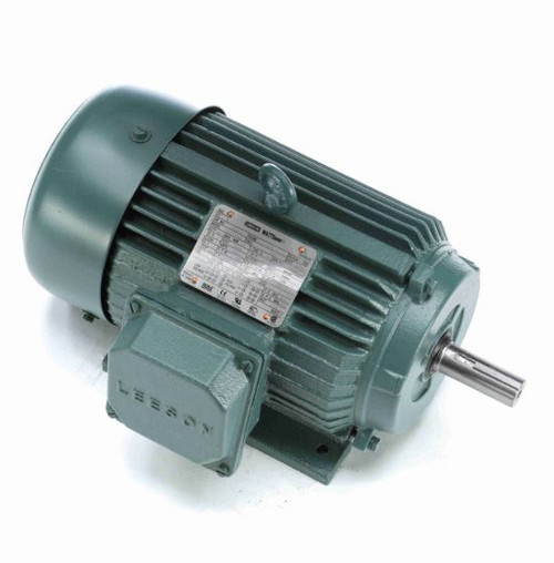 2 hp 1800 RPM 145T Frame 208-230/460V TEFC Leeson Electric Motor # 171647