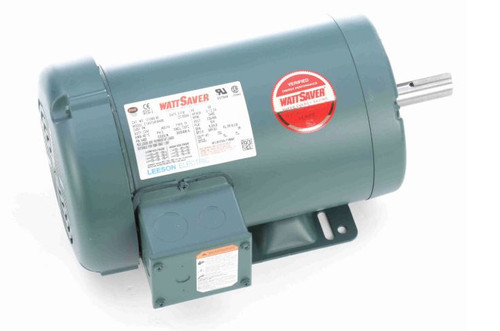 3 hp 3450 RPM 145T Frame 230/460V TEFC Leeson Electric Motor # 121968