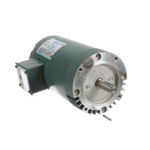 120063.00 Leeson |  3/4 hp 1200 RPM 143TC Frame ODP C-Face (no base) 208-230/460V