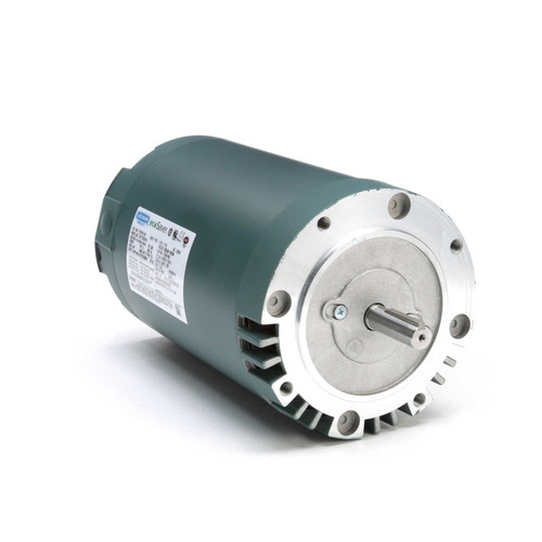 1.5 hp 1800 RPM 56C Frame ODP C-Face (no base) 230/460V Leeson Electric Motor # E116741