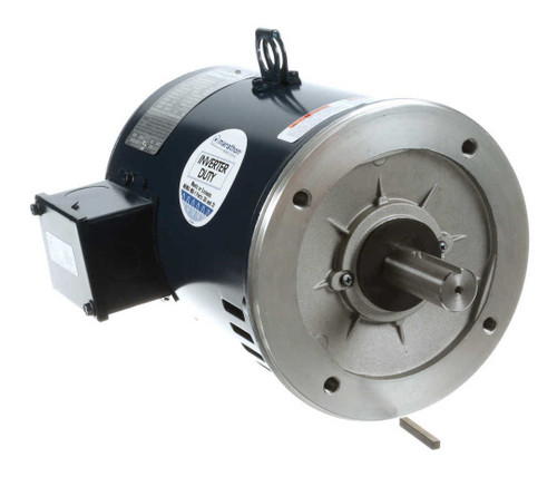 C124C Marathon 5 hp 1725 RPM 184TC Frame ODP C-Face (no base) 208-230/460 Volts Electric Motor