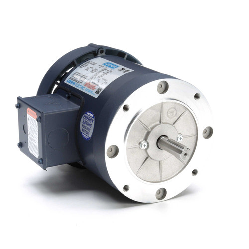 113311.00 Leeson |  1/3 hp 1200 RPM 56C Frame TEFC C-Face (No Base) 208-230/460V