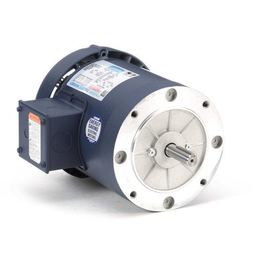 110163.00 Leeson |  1/2 hp 1200 RPM 56C Frame TEFC C-Face (No Base) 208-230/460V