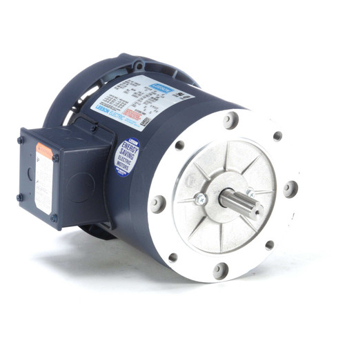 110448.00 Leeson |  3/4 hp 3600 RPM 56C Frame TEFC C-Face (No Base) 208-230/460V