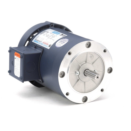 112378.00 Leeson |  3/4 hp 1200 RPM 56C Frame TEFC C-Face (No Base) 208-230/460V