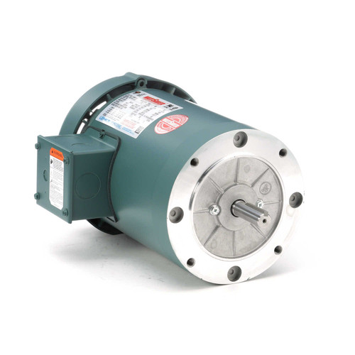 114638.00 Leeson |  1 hp 1800 RPM 56C Frame TEFC C-Face (No Base) 208-230/460V
