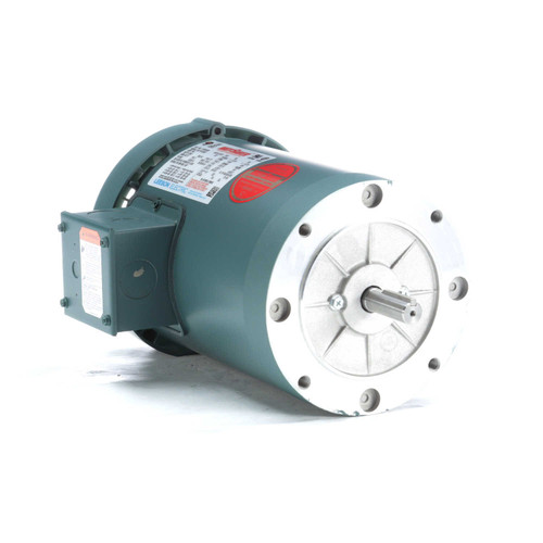 116749.00 Leeson |  1 hp 1200 RPM 56C Frame TEFC C-Face (No Base) 230/460V