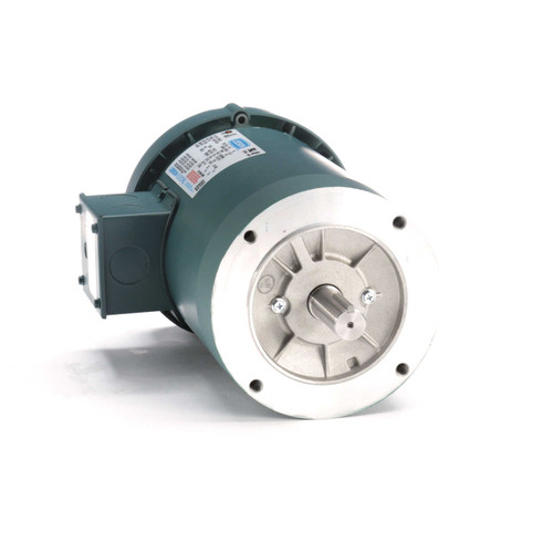 122165.00 Leeson |  1 hp 1200 RPM 145TC Frame TEFC C-Face (No Base) 208-230/460V