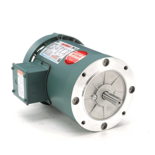 1.5 hp 3600 RPM 56C Frame TEFC C-Face (No Base) 230/460V Leeson Electric Motor # 116750