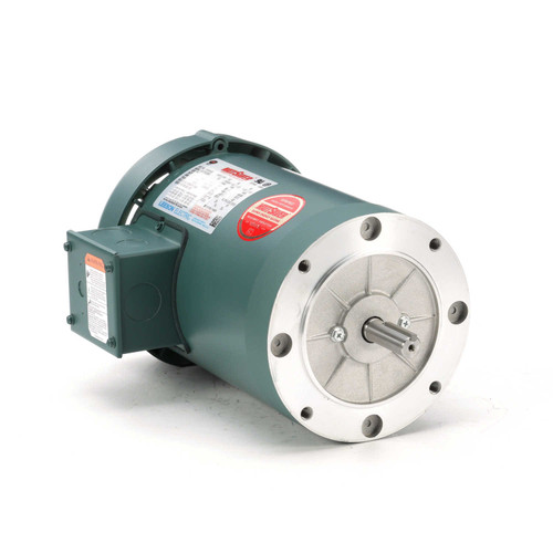 1.5 hp 1800 RPM 56C Frame TEFC C-Face (No Base) 230/460V Leeson Electric Motor # 116743