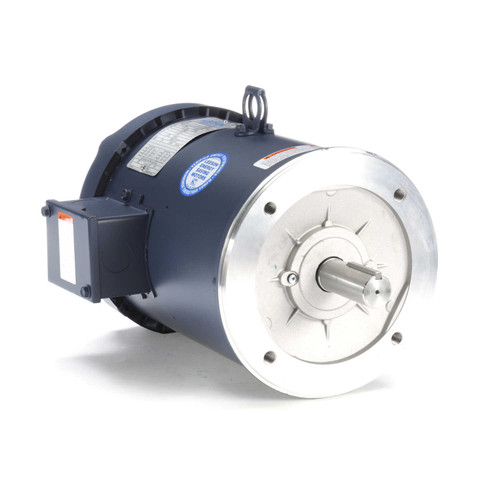 132434.00 Leeson |  5 hp 3600 RPM 184TC Frame TEFC C-Face (No Base) 208-230/460V