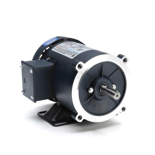 1/2 hp 1800 RPM 56C Frame TEFC C-Face (Rigid Base) 208-230/460V Leeson Electric Motor # 102917