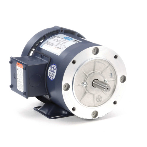 110916.00 Leeson |  3/4 hp 1800 RPM 56C Frame TEFC C-Face (Rigid Base) 208-230/460V