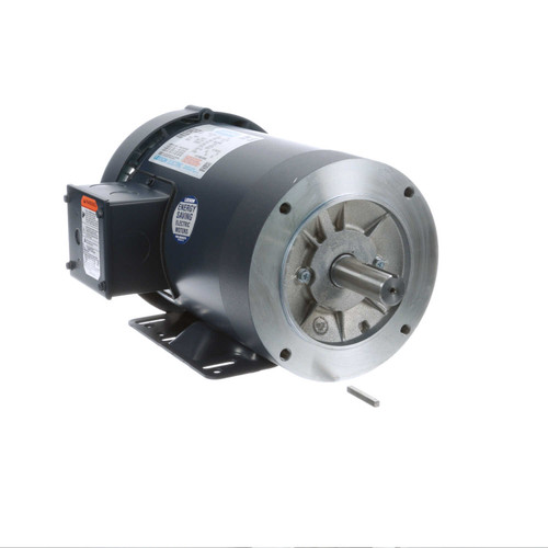 120485.00 Leeson |  3/4 hp 1200 RPM 143TC Frame TEFC C-Face (Rigid Base) 208-230/460V