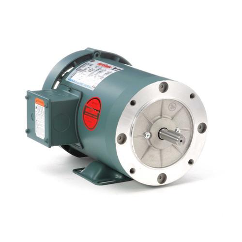 1 hp 1800 RPM 56C Frame TEFC C-Face (Rigid Base) 230/460V Leeson Electric Motor # 116745