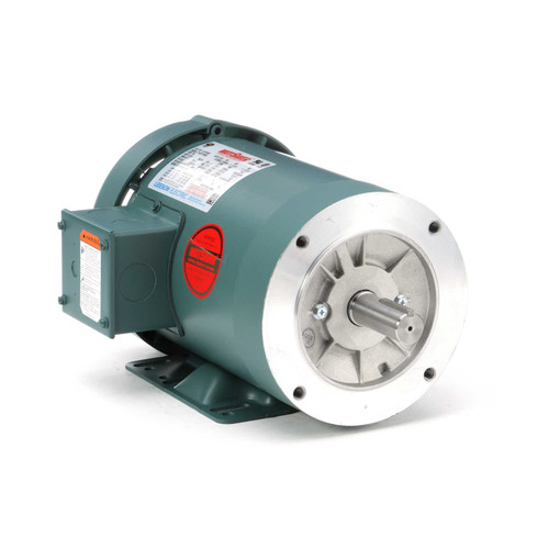 121179.00 Leeson |  1 hp 1800 RPM 145TC Frame TEFC C-Face (Rigid Base) 230/460V