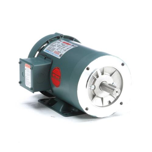 1 hp 1200 RPM 145TC Frame TEFC C-Face (Rigid Base) 230/460V Leeson Electric Motor # 121936