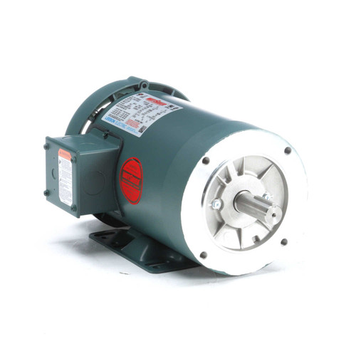 121936.00 Leeson |  1 hp 1200 RPM 145TC Frame TEFC C-Face (Rigid Base) 230/460V