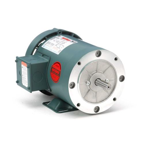 1.5 hp 3600 RPM 56C Frame TEFC C-Face (Rigid Base) 208-230/460V Leeson Electric Motor # 119416