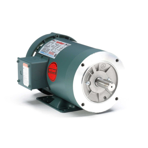 1.5 hp 1800 RPM 145TC Frame TEFC C-Face (Rigid Base) 230/460V Leeson Electric Motor # 121180