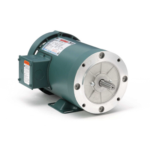 119417.00 Leeson |  2 hp 3600 RPM 56C Frame TEFC C-Face (Rigid Base) 230/460V