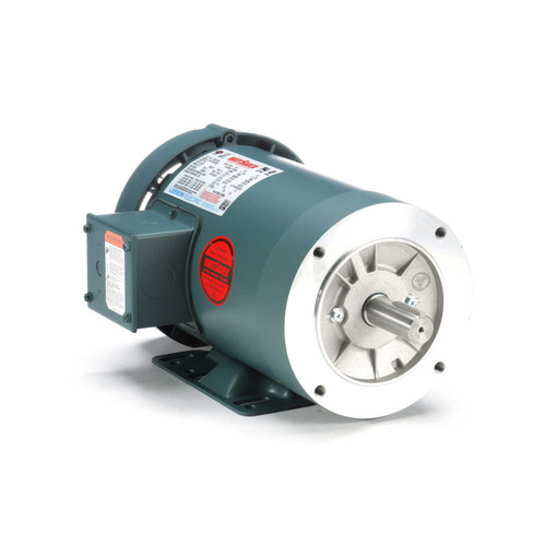 121673.00 Leeson |  2 hp 3600 RPM 145TC Frame TEFC C-Face (Rigid Base) 230/460V