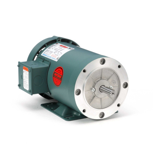 119418.00 Leeson |  3 hp 3600 RPM 56HC Frame TEFC C-Face (Rigid Base) 230/460V