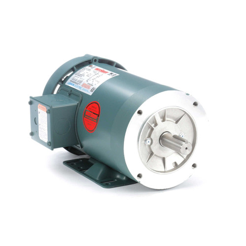 3 hp 3600 RPM 145TC Frame TEFC C-Face (Rigid Base) 230/460V Leeson Electric Motor # 121929