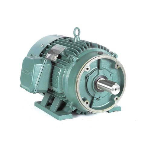 170104.60 Leeson |  15 hp 1200 RPM 284TC Frame TEFC C-Face (Rigid Base) 208-230/460V