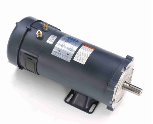 1.5 hp 1800 RPM 56CZ Frame 48V DC TEFC Leeson Electric Motor # 109105