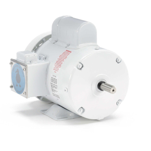 1 hp 1800 RPM 56 Frame 115/208-230V Wash Down Duty Leeson Electric Motor # 112626