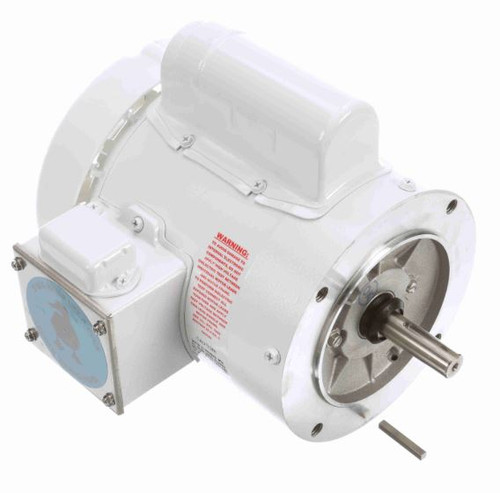 1/3 hp 3600 RPM 56C Frame (no base) C-Face 115/208-230V Wash Down Duty Leeson Electric Motor # 114310