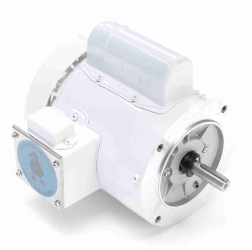 114311.00 Leeson |  1/3 hp 1800 RPM 56C Frame (no base) C-Face 115/208-230V Wash Down Duty