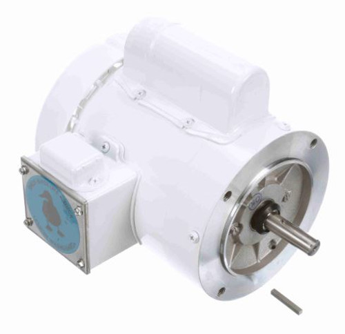 1/2 hp 3600 RPM 56C Frame (no base) C-Face 115/208-230V Wash Down Duty Leeson Electric Motor # 114312