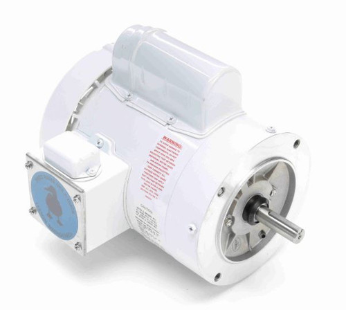 3/4 hp 1800 RPM 56C Frame (no base) C-Face 115/208-230V Wash Down Duty Leeson Electric Motor # 114315