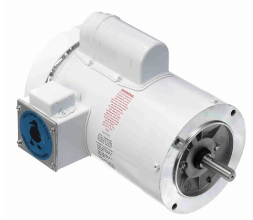1.5 hp 1800 RPM 56C Frame (no base) C-Face 115/208-230V Wash Down Duty Leeson Electric Motor # 114319