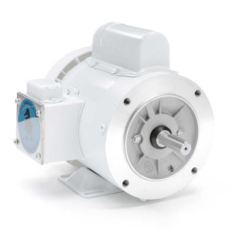 1/2 hp 1800 RPM 56C Frame (Rigid Base) C-Face 115/208-230V Wash Down Duty Leeson Electric Motor # 112527