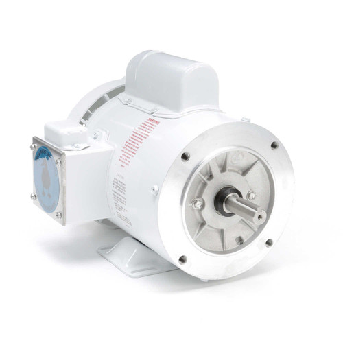 1 hp 3600 RPM 56C Frame (Rigid Base) C-Face 115/208-230V Wash Down Duty Leeson Electric Motor # 113583