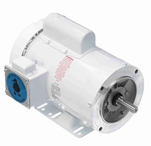 114637.00 Leeson |  2 hp 3600 RPM 56HC Frame (Rigid Base) C-Face 115/208-230V Wash Down Duty