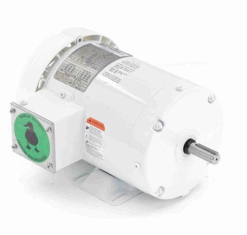 1 hp 1800 RPM 56 Frame 208-230/460V TEFC Wash Down Duty Leeson Electric Motor # 119475