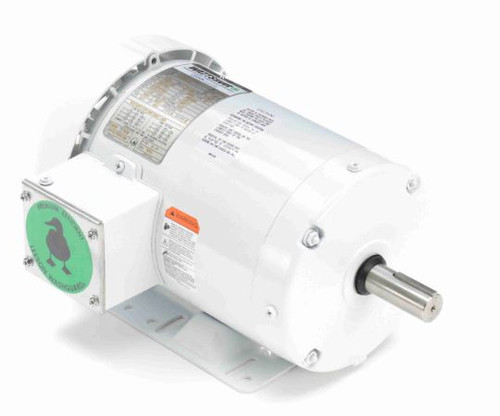 1 hp 1800 RPM 143T Frame 230/460V Wash Down Duty Leeson Electric Motor # 121865