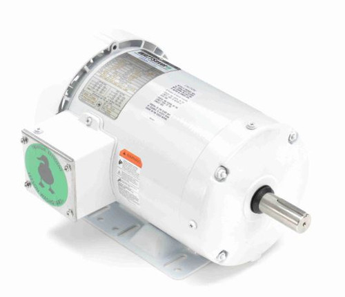 2 hp 1800 RPM 145T Frame 230/460V Wash Down Duty Leeson Electric Motor # 121866