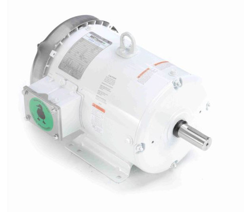 5 hp 3600 RPM 184T Frame 230/460V Wash Down Duty Leeson Electric Motor # 132202