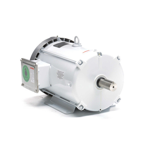 10 hp 1800 RPM 215T Frame 230/460V Wash Down Duty Leeson Electric Motor # 140820