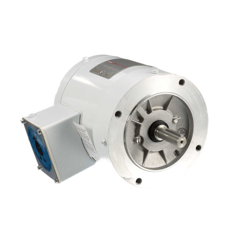113649.00 Leeson |  1/4 hp 1800 RPM 56C Frame TENV (no base) C-Face 208-230/460V Wash Down Duty