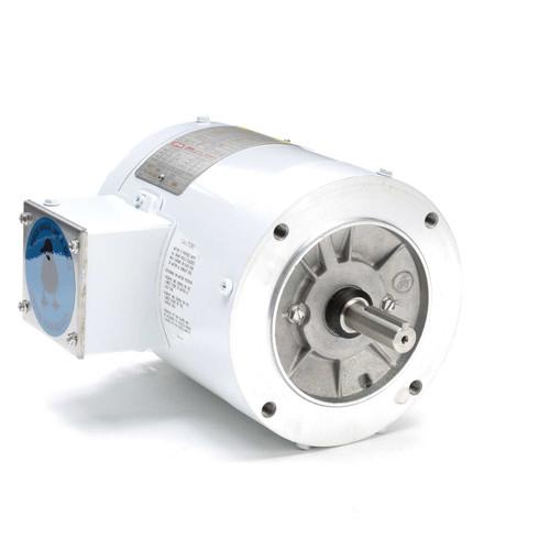1/2 hp 1800 RPM 56C Frame TENV (no base) C-Face 208-230/460V Wash Down Duty Leeson Electric Motor # 113473