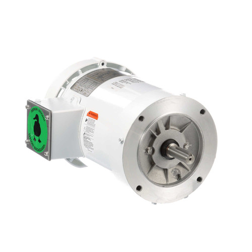 1 hp 1800 RPM 56C Frame TEFC (no base) C-Face 208/230-460V Wash Down Duty Leeson Electric Motor # 119468
