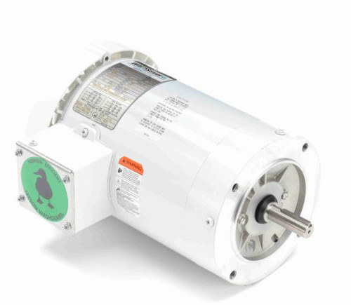 2 hp 3600 RPM 56C Frame TEFC (no base) C-Face 208-230/460V Wash Down Duty Leeson Electric Motor # 119472